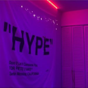 off white hype tapestry